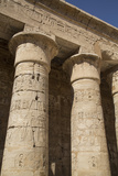 Columns of the Second Court, Medinet Habu (Mortuary Temple of Ramses Iii), West Bank Photographic Print by Richard Maschmeyer