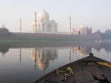 Dawn on the Taj Mahal from Yamuna River, UNESCO World Heritage Site, Agra, Uttar Pradesh, India Photographic Print by Ben Pipe