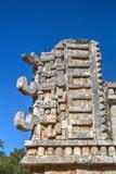 Chac Rain God Masks, the Palace, Xlapak, Mayan Archaeological Site, Yucatan, Mexico, North America Photographic Print by Richard Maschmeyer