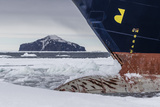 The Lindblad Expeditions Ship National Geographic Explorer in Shorefast Ice Photographic Print by Michael Nolan