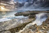 Rocks and Crashing Waves at Devil's Bridge Photographic Print by Roberto Moiola