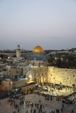 View over the Western Wall (Wailing Wall) and the Dome of the Rock Mosque, Jerusalem, Israel Reproduction photographique par Yadid Levy