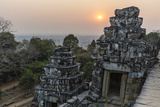 Sunset View from Phnom Bakheng, Angkor, UNESCO World Heritage Site, Siem Reap, Cambodia, Indochina Photographic Print by Michael Nolan