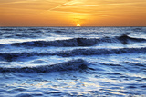 Sunset at Brighton Beach, Sussex, England, United Kingdom, Europe Photographic Print by Mark Mawson