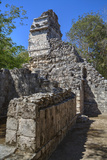 Structure Vi, Hochob, Mayan Archaeological Site, Chenes Style, Campeche, Mexico, North America Photographic Print by Richard Maschmeyer