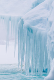 Wind and Water Sculpted Iceberg with Icicles at Booth Island, Antarctica, Polar Regions Photographic Print by Michael Nolan