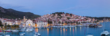 Elevated View over the Picturesque Harbour Town of Hvar, Hvar, Dalmatia, Croatia Photographic Print by Doug Pearson
