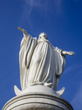 Virgin Mary Statue at Cerro San Cristobal, Santiago, Chile, South America Photographic Print by Yadid Levy