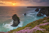 Bedruthan Steps, Newquay, Cornwall, England, United Kingdom Photographic Print by Billy Stock