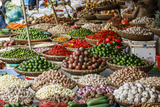 Fruits and Vegetables Stall at a Market in the Old Quarter, Hanoi, Vietnam, Indochina Fotografisk tryk af Yadid Levy