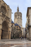 Cathedral and Miguelete Bell Tower, Plaza De La Virgen, Autumn (Fall), Valencia, Spain, Europe Photographic Print by Eleanor Scriven