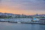 Barcelona Marina at Sunset, Barcelona, Catalonia, Spain Photographic Print by Mark Mawson