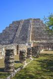 Castillo De Kukulcan, Mayapan, Mayan Archaeological Site, Yucatan, Mexico, North America Photographic Print by Richard Maschmeyer