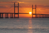 Second Severn Crossing Bridge over the River Severn, Southeast Wales, Wales, United Kingdom, Europe Photographic Print by Billy Stock