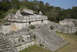 Structure 17 (The Twins), Ek Balam, Mayan Archaeological Site, Yucatan, Mexico, North America Photographic Print by Richard Maschmeyer