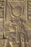 Relief Depicting the Goddess Hathor, Temple of Horus, Edfu, Egypt, North Africa, Africa Photographic Print by Richard Maschmeyer