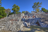 Nivel B, the Acropolis, Kinichna, Mayan Archaeological Site, Quintana Roo, Mexico, North America Photographic Print by Richard Maschmeyer