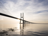 Vasco Da Gama Bridge over Rio Tejo (Tagus River) at Dawn, Lisbon, Portugal Photographic Print by Ben Pipe
