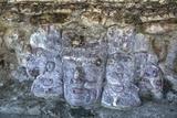 Carved Stone Masks, Temple of Masks, Edzna Photographic Print by Richard Maschmeyer