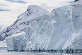 Tidewater Glacier Face Detail in Neko Harbor, Antarctica, Polar Regions Photographic Print by Michael Nolan