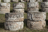 Stone Glyphs in Front of the Palace of Masks, Kabah Archaeological Site, Yucatan, Mexico Photographic Print by Richard Maschmeyer
