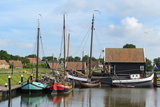 Boats in a Fishing Port at Zuiderzee Open Air Museum Photographic Print by Peter Richardson