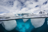 Above and Below Water View of Danco Island, Errera Channel, Antarctica, Polar Regions Photographic Print by Michael Nolan