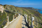 Road Connecting the Narrow Isthmus of Greater and Little Sark, Channel Islands, United Kingdom Photographic Print by Michael Runkel