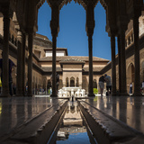 Court of the Lions, Alhambra, Granada, Province of Granada, Andalusia, Spain Fotodruck von Michael Snell