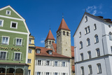 Medieval Patrician Houses and Towers in Regensburg, Bavaria, Germany Photographic Print by Michael Runkel