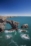 Green Bridge of Wales, Pembrokeshire Coast, Wales, United Kingdom Photographic Print by Billy Stock