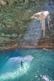 Cenote Samula, Near Valladolid, Yucatan, Mexico, North America Photographic Print by Richard Maschmeyer