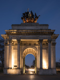 Exterior of Wellington Arch at Night, Hyde Park Corner, London, England, United Kingdom, Europe Photographic Print by Ben Pipe
