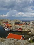 Timber Houses, Vaderoarna (The Weather Islands) Archipelago, Bohuslan Region, West Coast, Sweden Photographic Print by Yadid Levy
