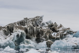 Iceberg with Moraine Material and Icicles at Booth Island, Antarctica, Polar Regions Photographic Print by Michael Nolan