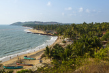 View over Anjuna Beach, Goa, India, Asia Photographic Print by Yadid Levy