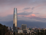 View over the Gran Torre Santiago from Cerro San Cristobal, Santiago, Chile, South America Photographic Print by Yadid Levy