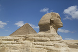 Sphinx in Foreground, and the Great Pyramid of Cheops, the Giza Pyramids Photographic Print by Richard Maschmeyer