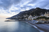 Amalfi Waterfront at Dusk, Costiera Amalfitana (Amalfi Coast), Campania, Italy Photographic Print by Eleanor Scriven