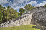 Stairway to the Acropolis, Kohunlich, Mayan Archaeological Site Photographic Print by Richard Maschmeyer