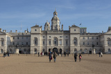 Tourists Walk Towards the Arch of Horse Guards Parade under a Winter's Blue Sky Photographic Print by Eleanor Scriven