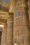 Columns in Second Court, Medinet Habu (Mortuary Temple of Ramses Iii), West Bank Photographic Print by Richard Maschmeyer