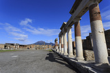 Forum and Vesuvius, Roman Ruins of Pompeii, UNESCO World Heritage Site, Campania, Italy, Europe Photographic Print by Eleanor Scriven