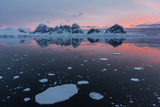 Sunrise over Wiencke Island in the Neumayer Channel, Antarctica, Polar Regions Photographic Print by Michael Nolan