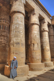 Local Man, Columns in the Great Hypostyle Hall, Karnak Temple Photographic Print by Richard Maschmeyer