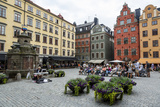 People Sitting at Stortorget Square in Gamla Stan, Stockholm, Sweden, Scandinavia, Europe Photographic Print by Yadid Levy