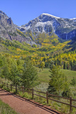 Fall Colours, Telluride, Western San Juan Mountains in the Background Photographic Print by Richard Maschmeyer