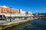 View of the Venetian Port of Chania, Crete, Greek Islands, Greece, Europe Photographic Print by Michael Runkel
