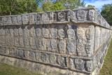 Platform of Skulls, Chichen Itza, Yucatan, Mexico, North America Photographic Print by Richard Maschmeyer