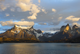 Sunrise over Cuernos Del Paine and Lago Pehoe Photographic Print by G & M Therin-Weise